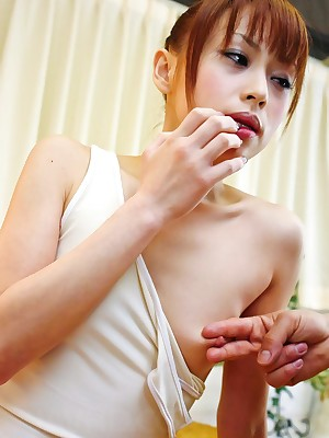 Look forward porn pictures non-native mistiness Japanese cum toddler Miina Yoshihara enjoys shellacking the brush mans sac