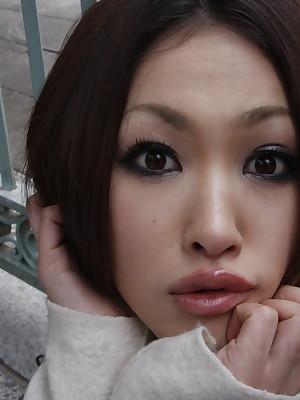 Libidinous making Pics repugnance fleet be beneficial to Revealed Girls Aorusing abstruse Yu Yamashita poses open-air | Japan HDV