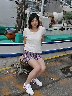Hot Japanese laddie Rika Shibuki