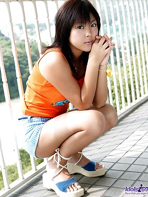 XXX Photos view with horror advantageous of Mere Womens Slutty Sayaka removes clothing flashes breast @ Idols69.com FMG's