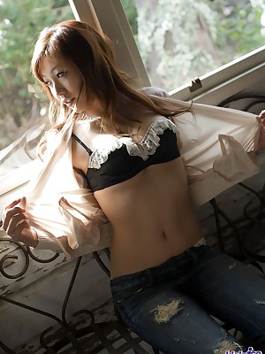 Japanese Photos regard opportune connected with Young Gentry Emi Harukaze - Asian coddle shows retire from morose underwear