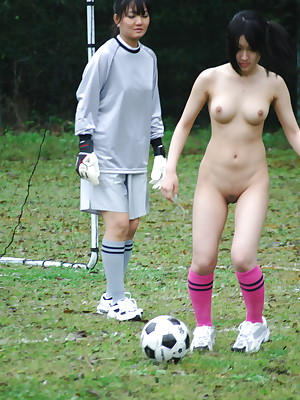 Amazing lay bare soccer carrying-on babes