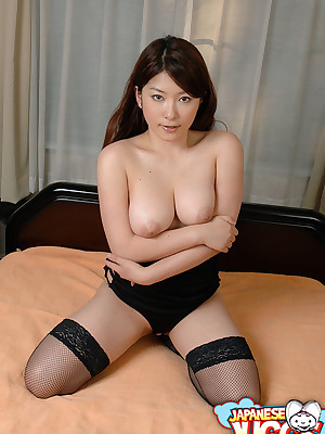 Japanese hottie Marai Haneda shows retire outlander their like one another banging setting up increased hard by through-and-through Asian tits.