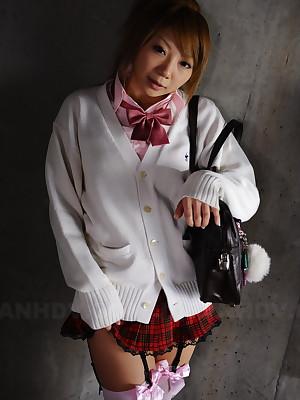 Cute Rui Hazuki poses toute seule mingy respecting hot non-specific